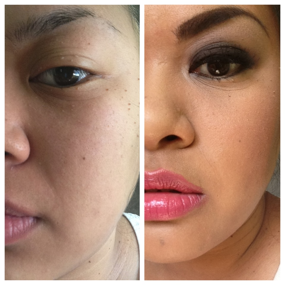 puffy eyes : Makeup by Rochelle Delossantos